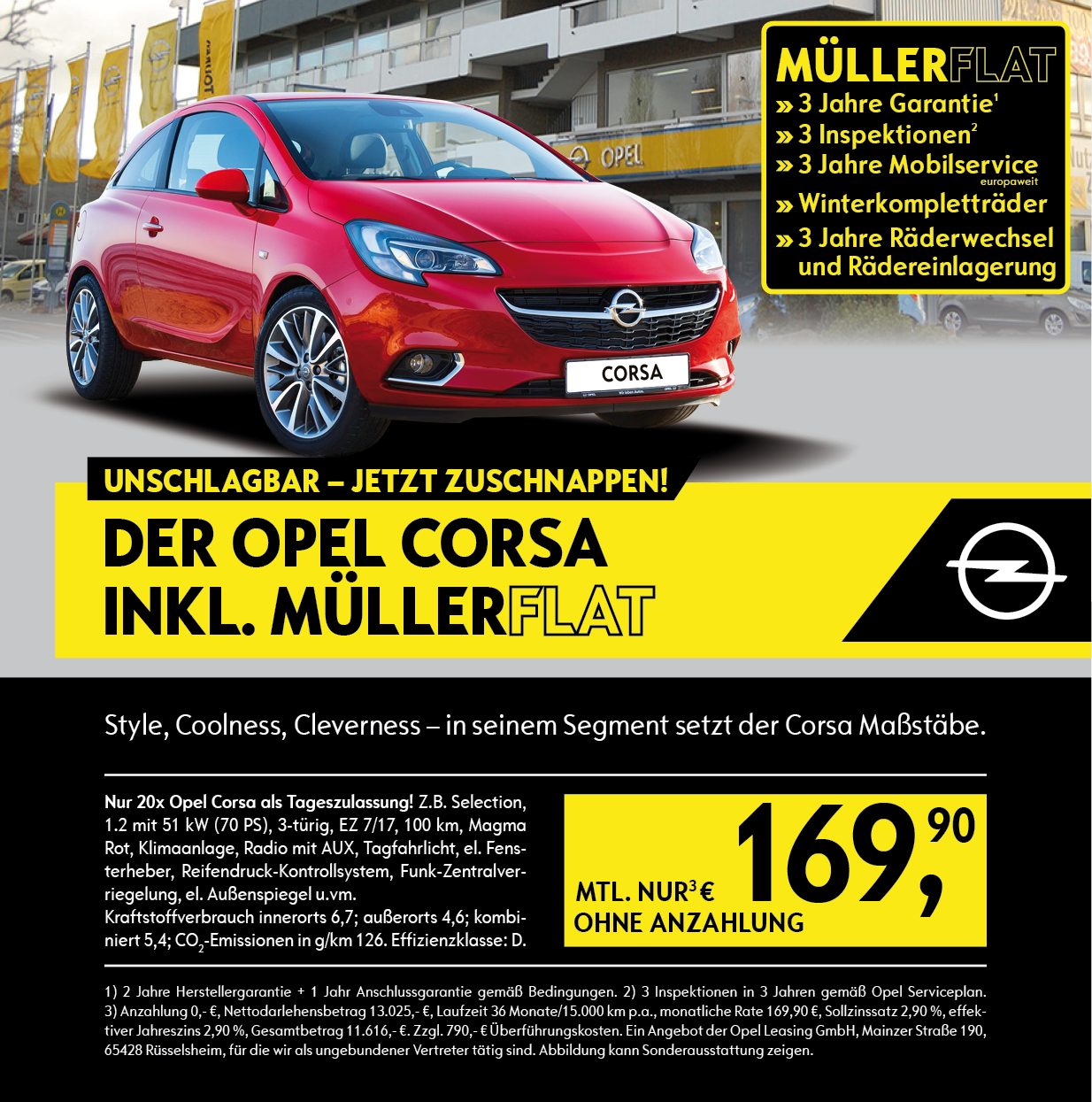 opel corsa inkl m llerflat auto m ller. Black Bedroom Furniture Sets. Home Design Ideas